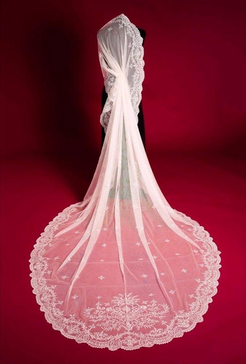 Velos de novia tipo catedral, elegancia pura