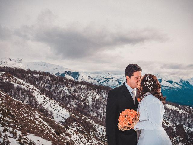 Cheila y Uelder: un matrimonio íntimo en la nieve