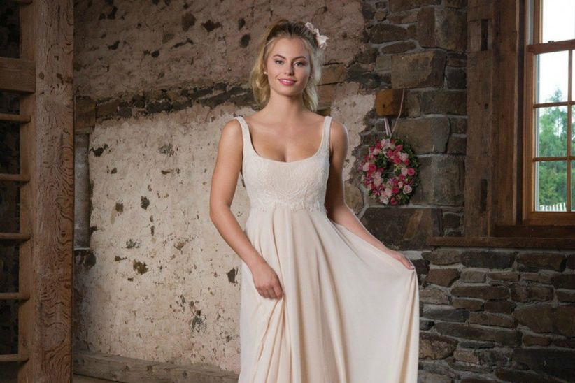 650dc2520 25 vestidos de novia con corte imperio  aires románticos y clásicos