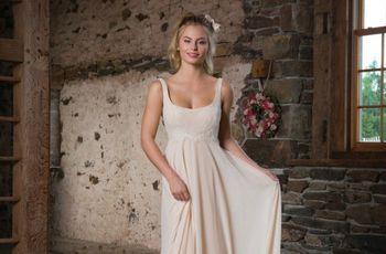 15 vestidos de novia con corte imperio: romanticismo y sutileza