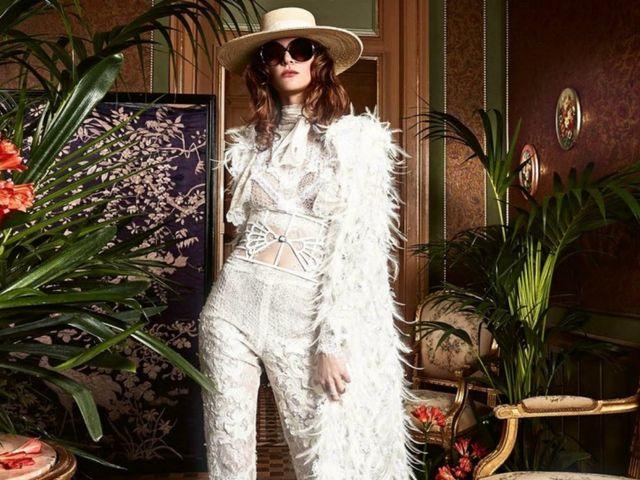 Look de novia con traje pantalón: 30 modelos únicos