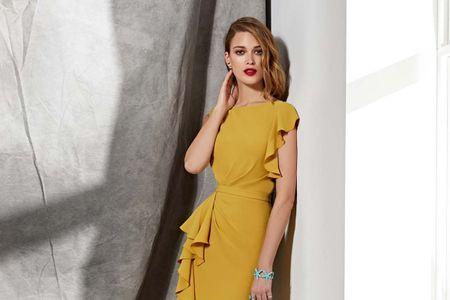 30 vestidos de fiesta color mostaza: ¡Marca la diferencia!