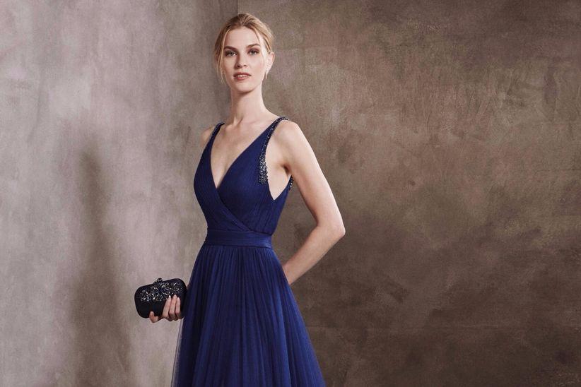 Vestidos azul pavo cortos