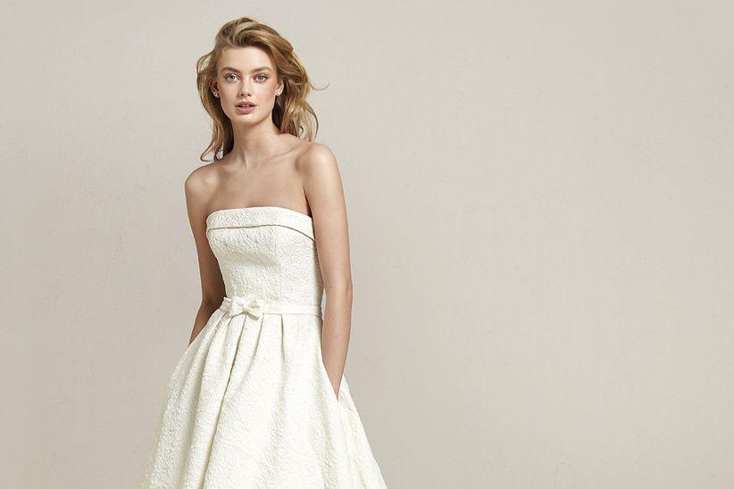 35 vestidos de novia con escote palabra de honor 93293ab59605