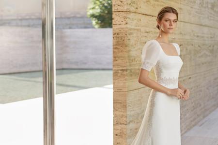 Vestidos de novia con escote cuadrado: una moda que vuelve con fuerza