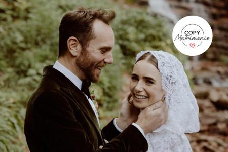 Copy matrimonio: cómo inspirarse en el romántico look y boda soñada de Lily Collins