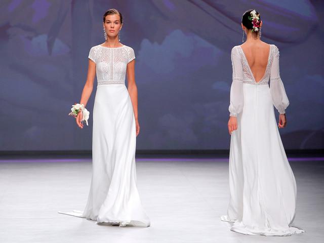 El encaje: la pieza clave de los vestidos de novia 2020 de Aire Barcelona