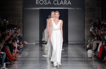 La elegancia se toma la pasarela con los vestidos de novia 2020 de Rosa Clará