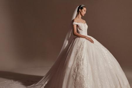 45 vestidos de novia estilo princesa para impactar con tu look nupcial