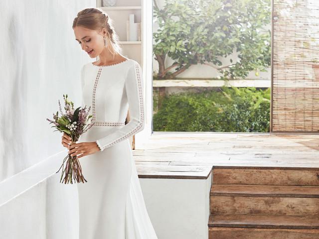 90 vestidos de novia cerrados: cuando la elegancia es un must