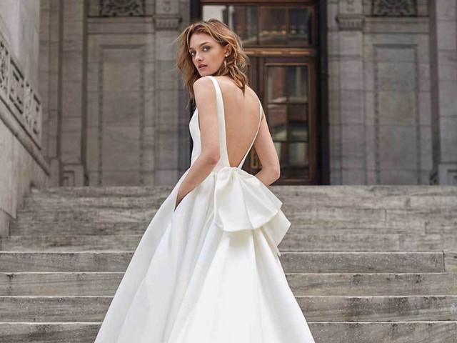 Teatralidad y elegancia se unen en los vestidos de novia 2019 de Monique Lhuillier