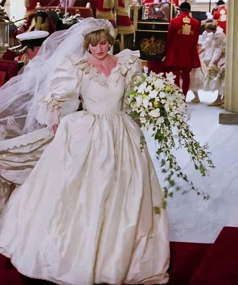 Ladi Di vestida de novia