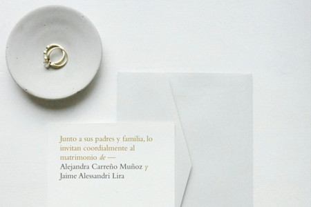 Invitaciones de matrimonio minimalistas, pero innovadoras