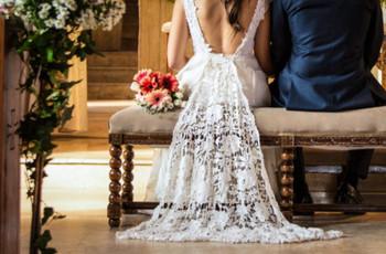 Cómo sentarse con el vestido de novia y no complicarse con los detalles