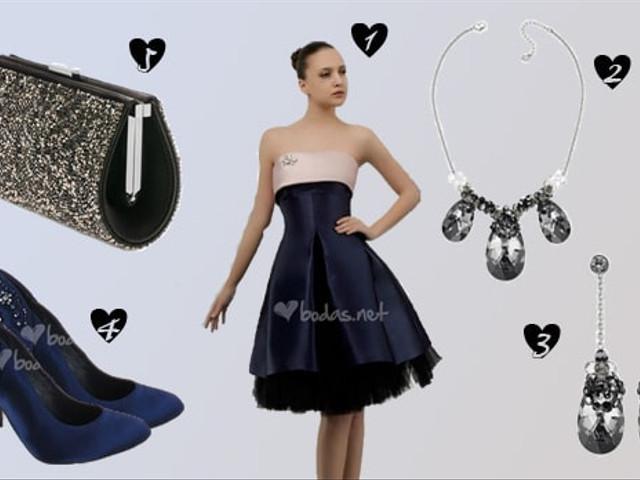 Look de fiesta black and blue