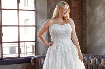 Vestidos de novia para mujeres curvys: ¡luce tu mejor look nupcial!