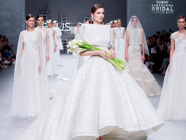 Jesús Peiró presenta sus vestidos de novia 2020 en la Valmont Barcelona Bridal Fashion Week