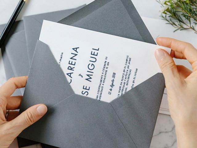 Qué escribir en los sobres de las invitaciones de su matrimonio