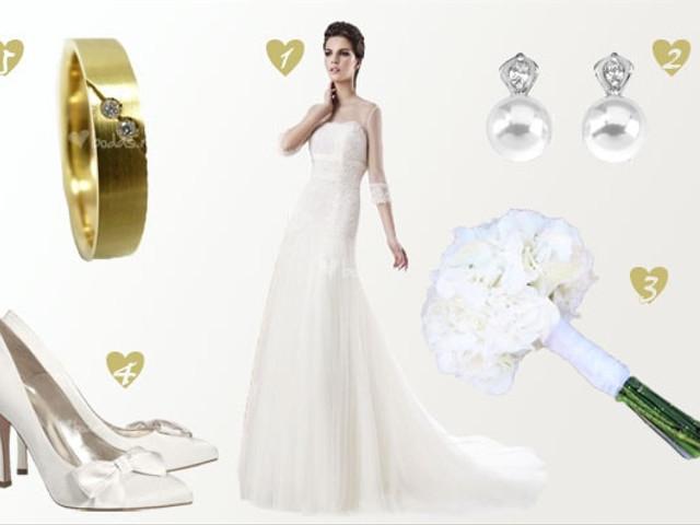 Look de novia white and gold