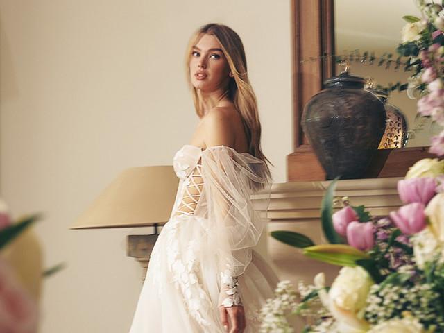 7 detalles románticos para añadir al vestido de novia que elevarán el status de tu estilismo nupcial