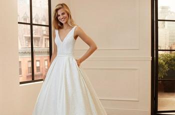 Luna Novias 2020: vestidos clásicos con delicados detalles