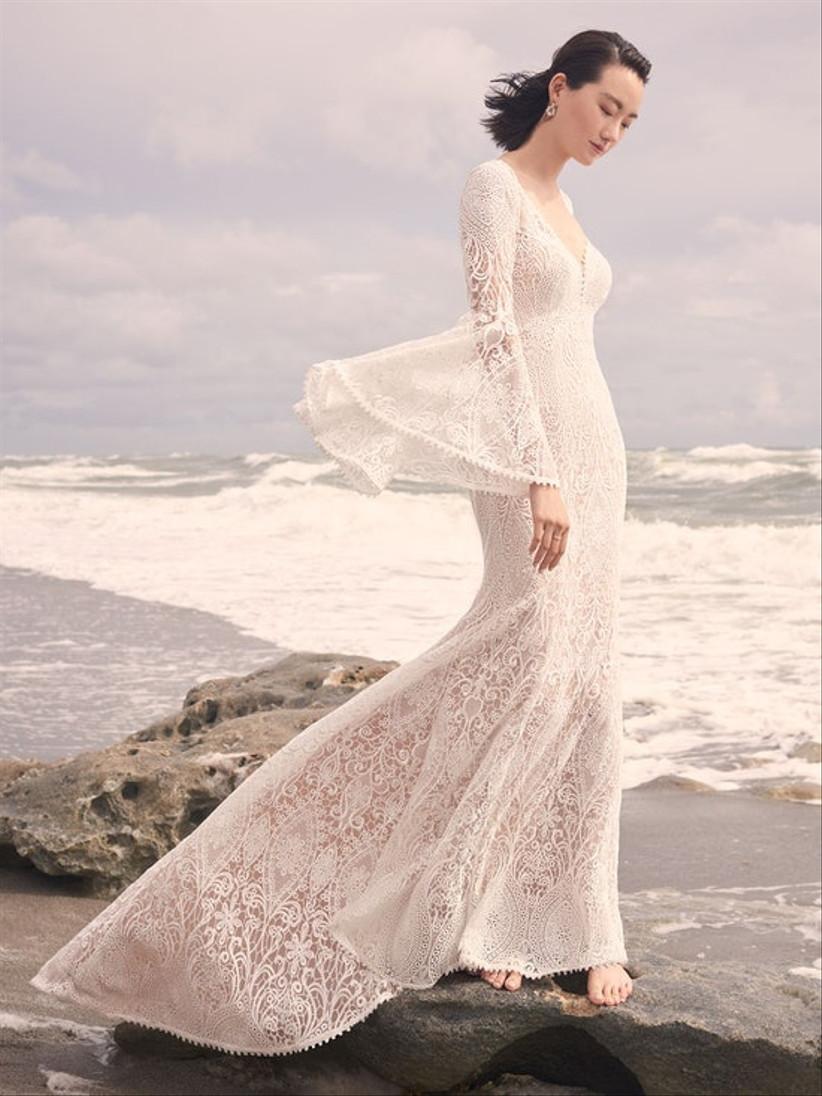 vestido de novia tejido boho Sottero and Midgley