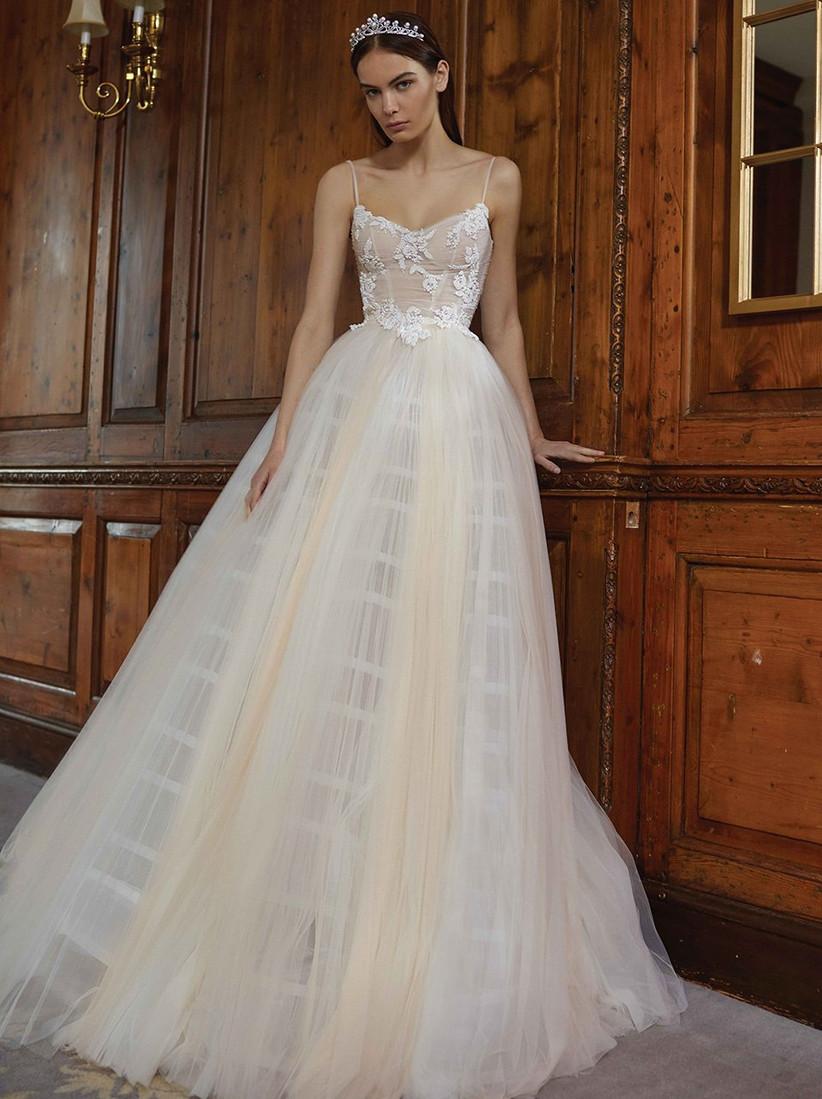 Vestido de novia falda tul Galia Lahav