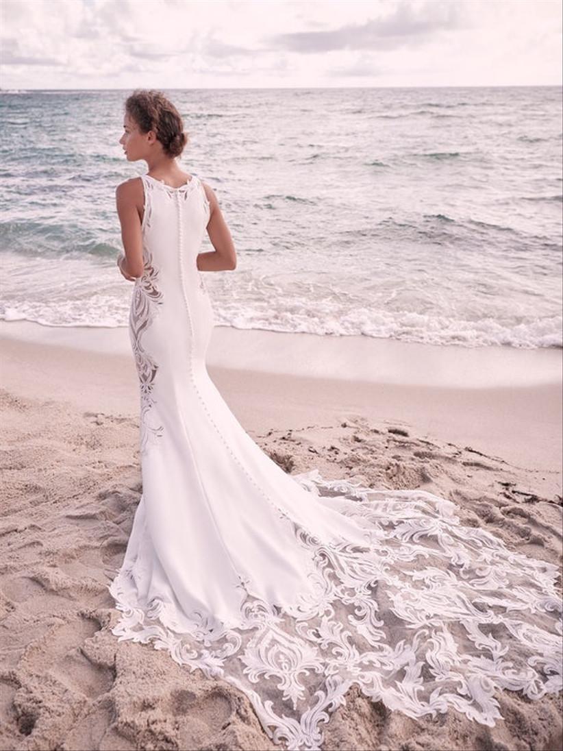 vestido de novia sirena cola bordada Sottero and Midgley
