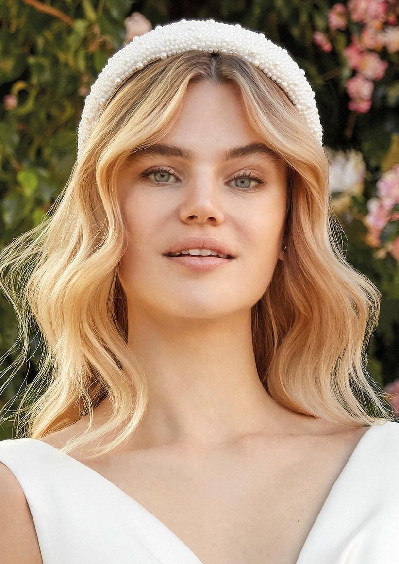 peinado de novia con pelo suelto y ondas