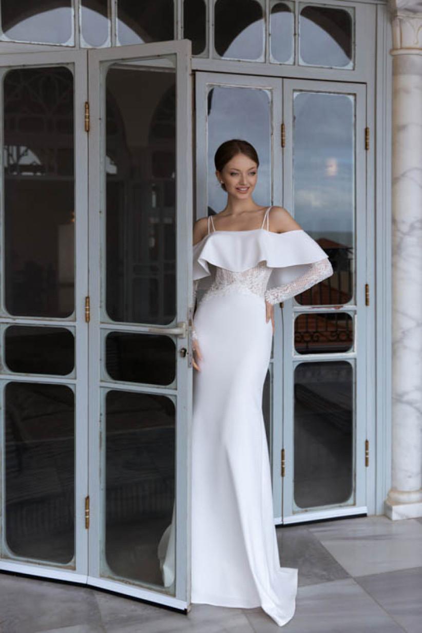 vestido de novia Daria Karlozi sirena escote