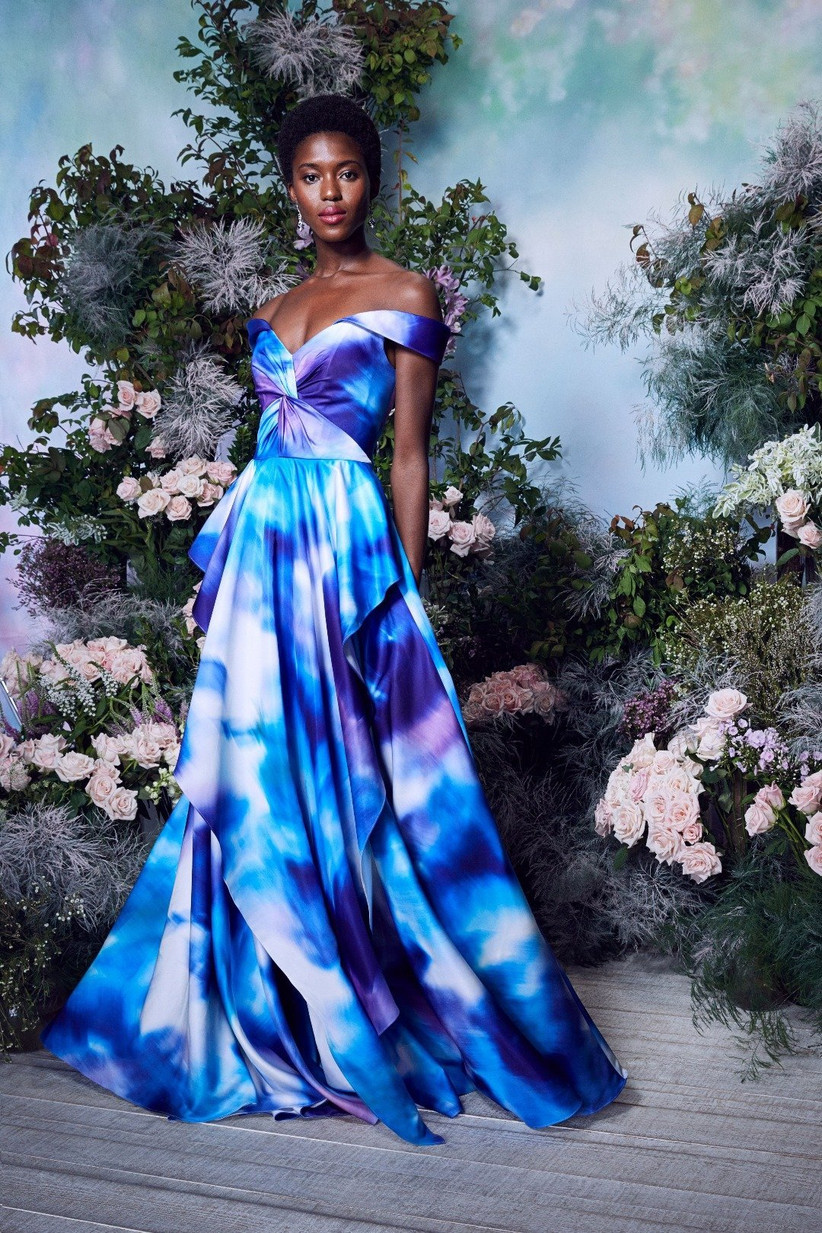 vestido de fiesta 2021 estampado de Marchesa