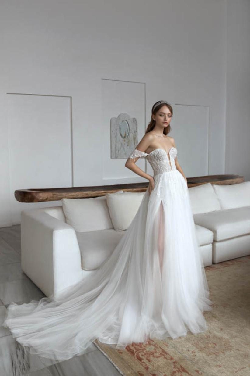 vestido de novia Daria Karlozi falda tul