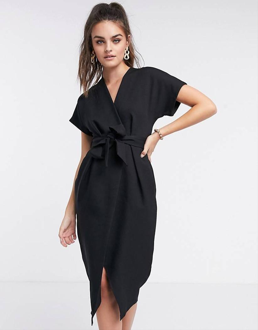 vestido corto negro Asos