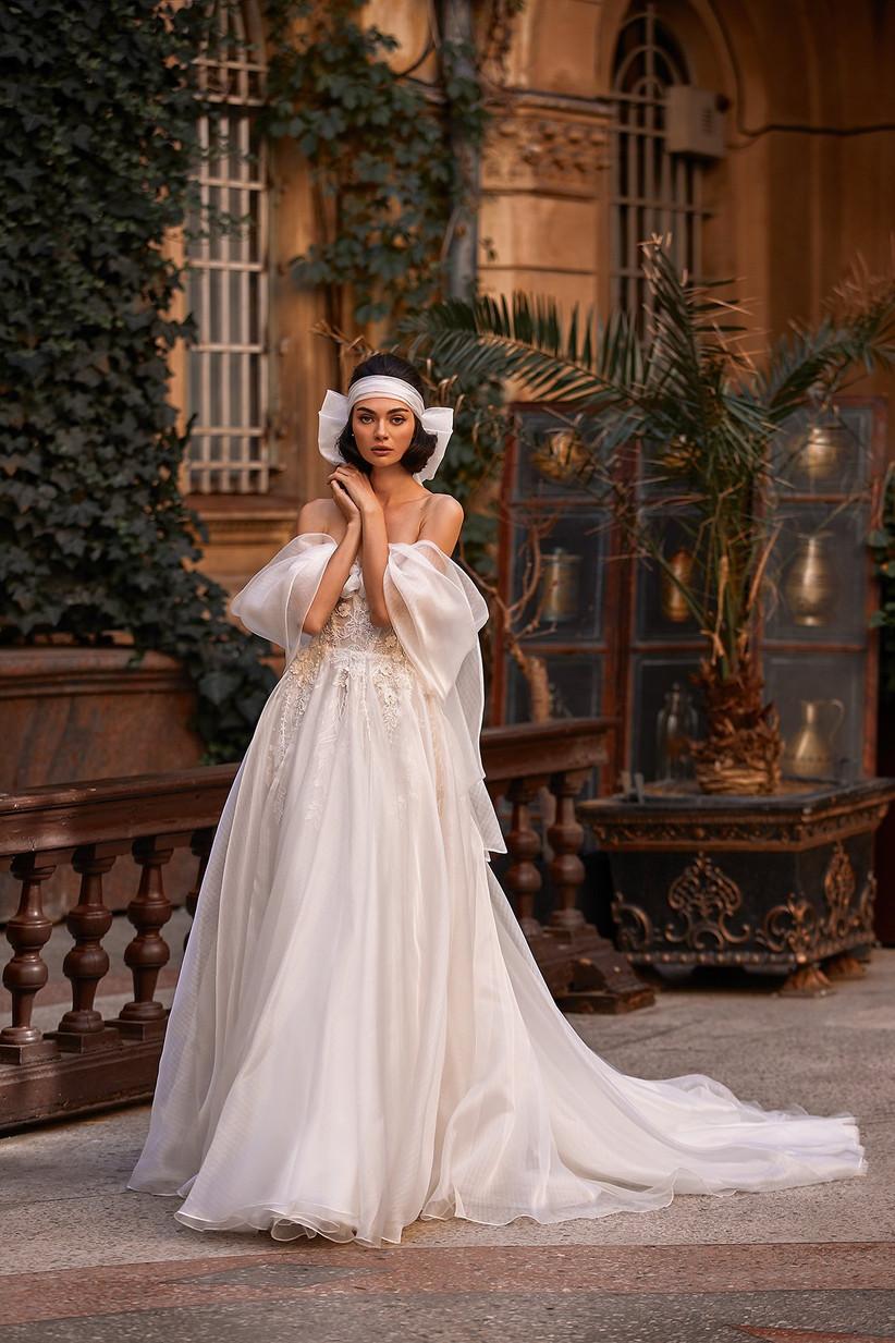 vestido de novia Daria Karlozi tul