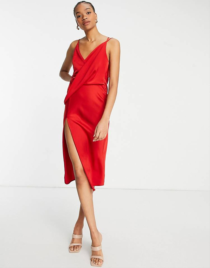 vestido Asos rojo