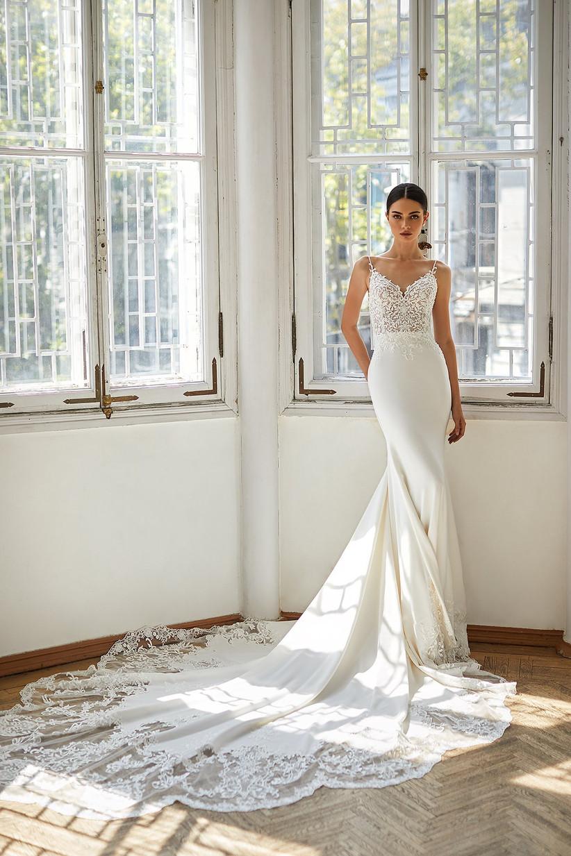 vestido de novia Daria Karlozi sirena encaje