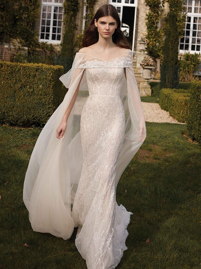 vestido de novia escote barco Galia Lahav