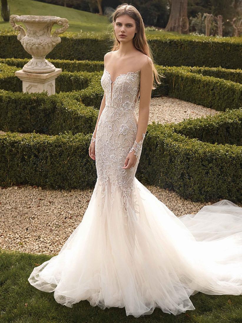 vestido de novia sirena escote corazón Galia Lahav