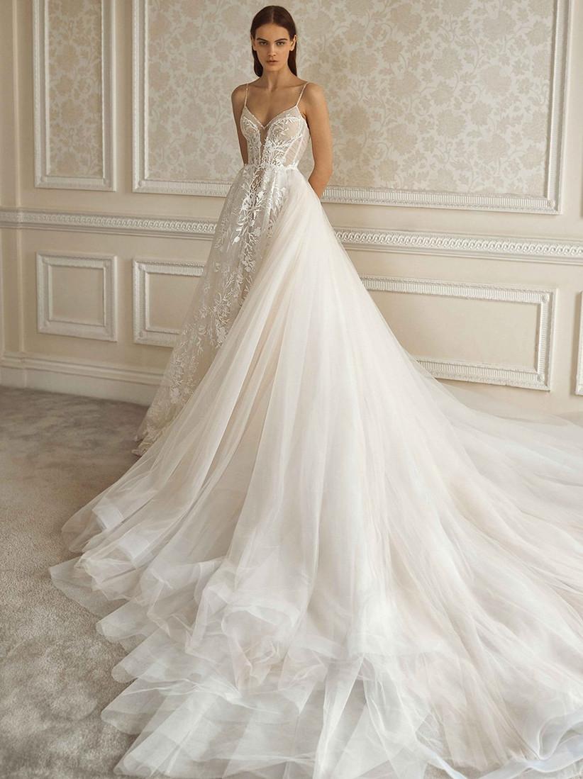 Vestido de novia con amplio faldón Galia Lahav