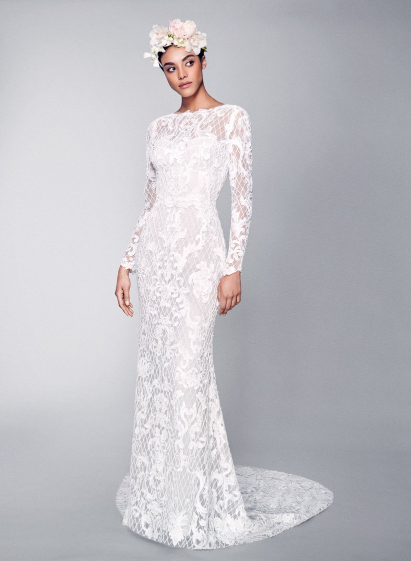 Vestido de novia de encaje de Marchesa