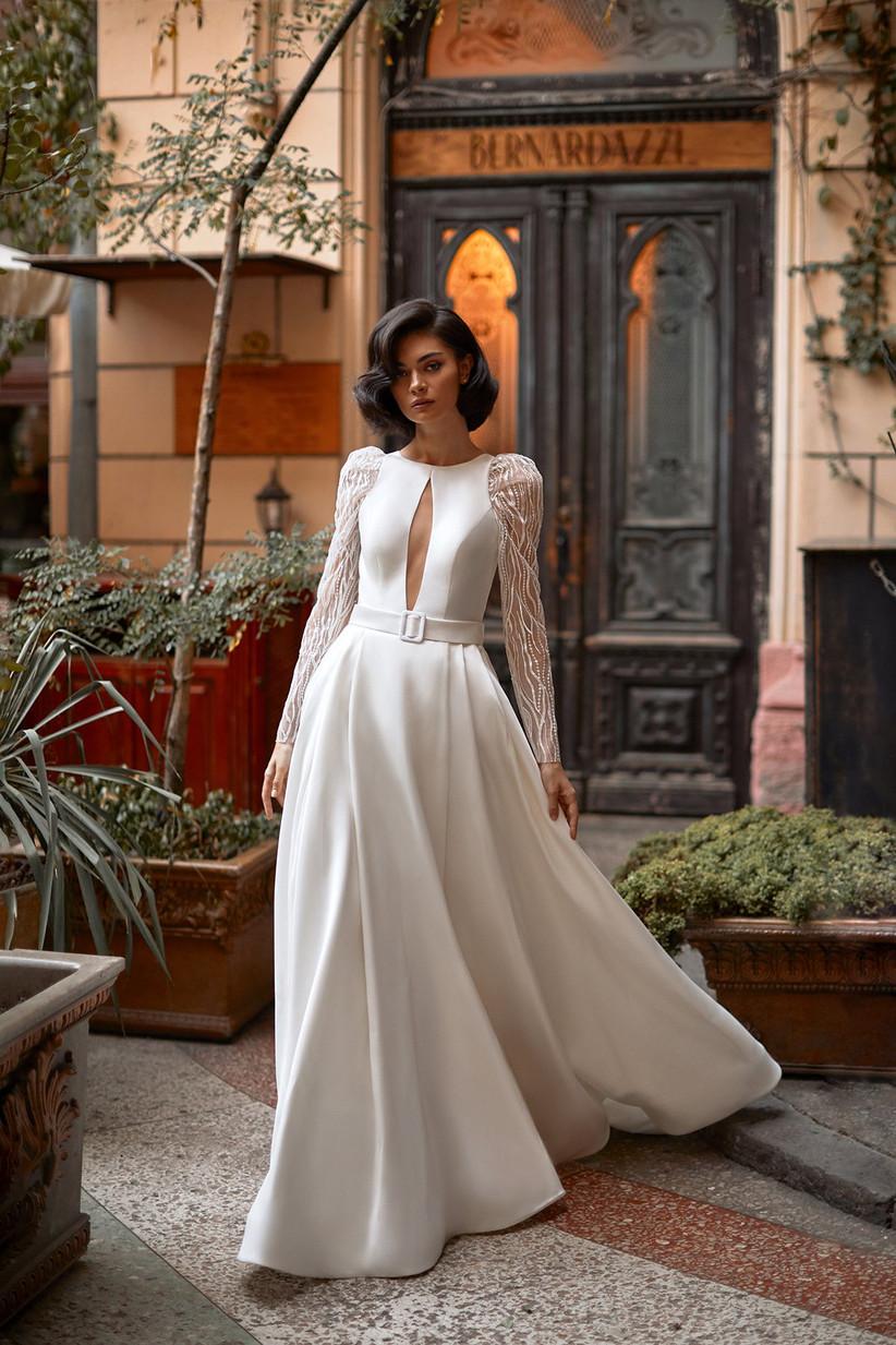 vestido de novia Daria Karlozi escote