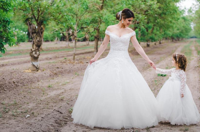 vestido de novia madre e hija