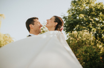 Foto de portada de revista para el álbum de matrimonio