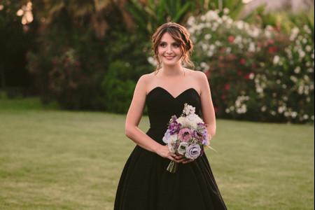 ¿Cuál es el significado de casarse con un vestido de novia negro?
