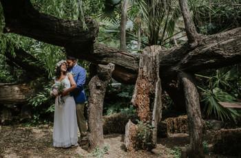 Vivan la magia del bosque en su matrimonio