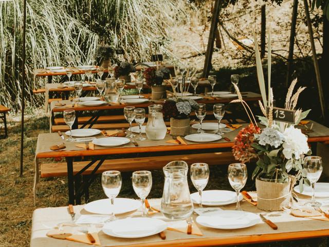 9 consejos para un banquete de matrimonio al aire libre