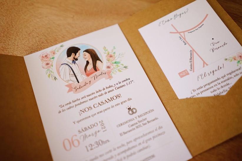invitaciones de matrimonio ilustración