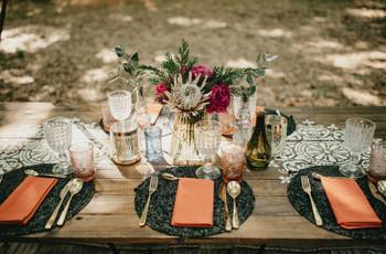Las decoraciones de mesas más lindas para comer con amigos inspiradas en matrimonios
