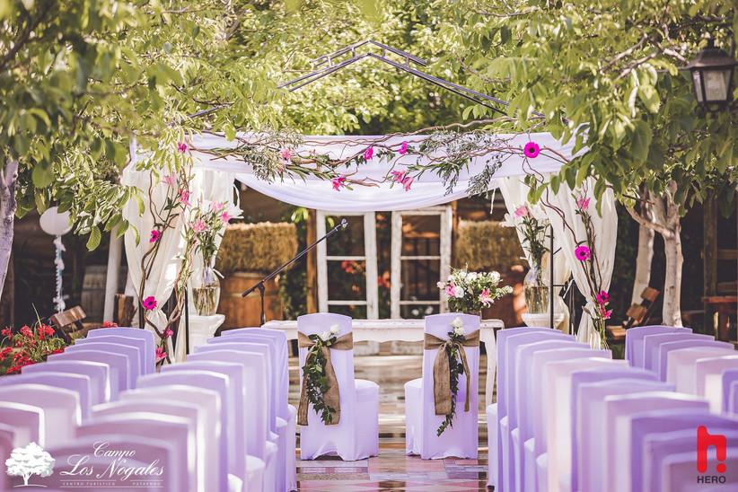 Campo Los Nogales - zona Ceremonias en jardines