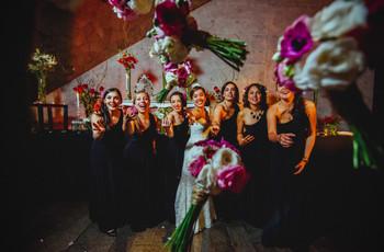 7 divertidas ideas para la foto de la novia con las damas de honor